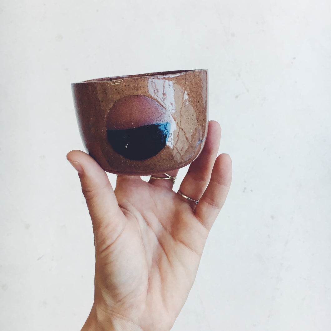 Black and Terra-cotta Lunar Mug
