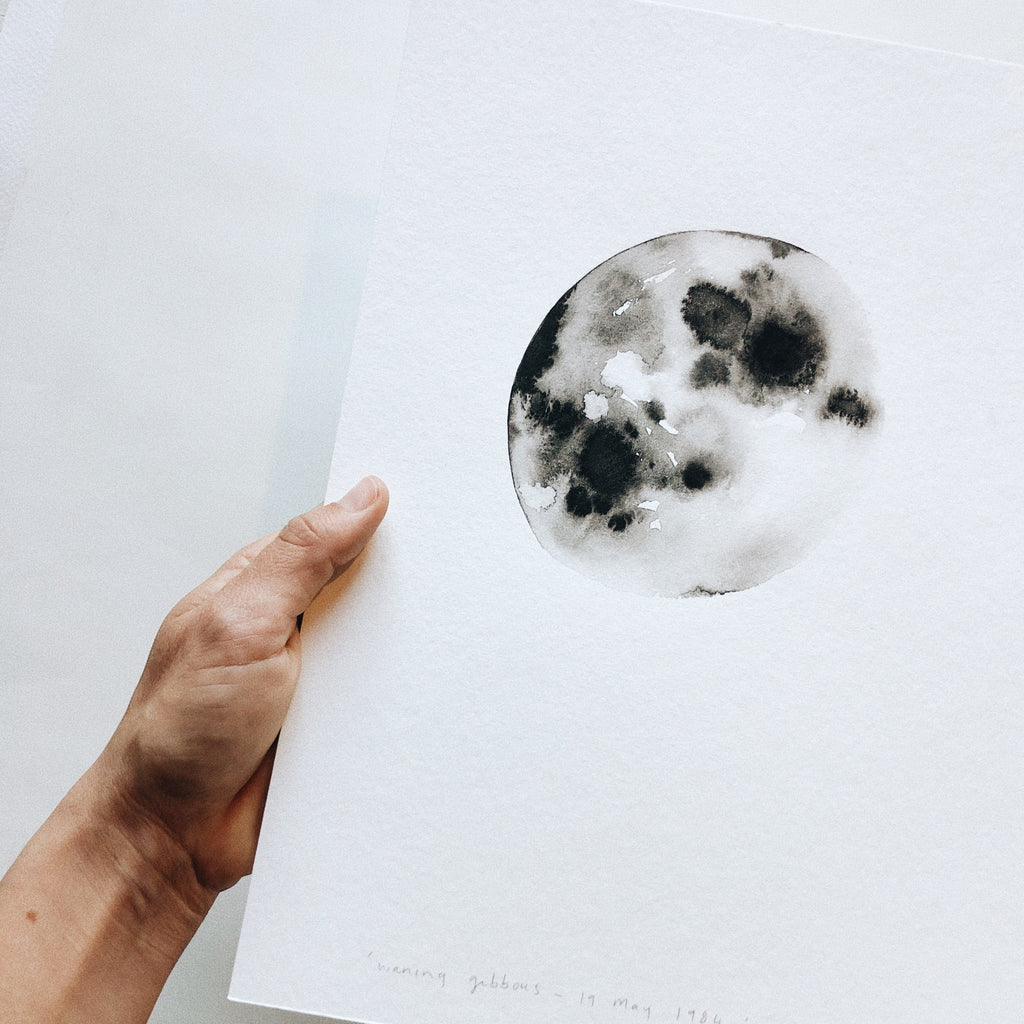 Single Lunar Phase ~ on white