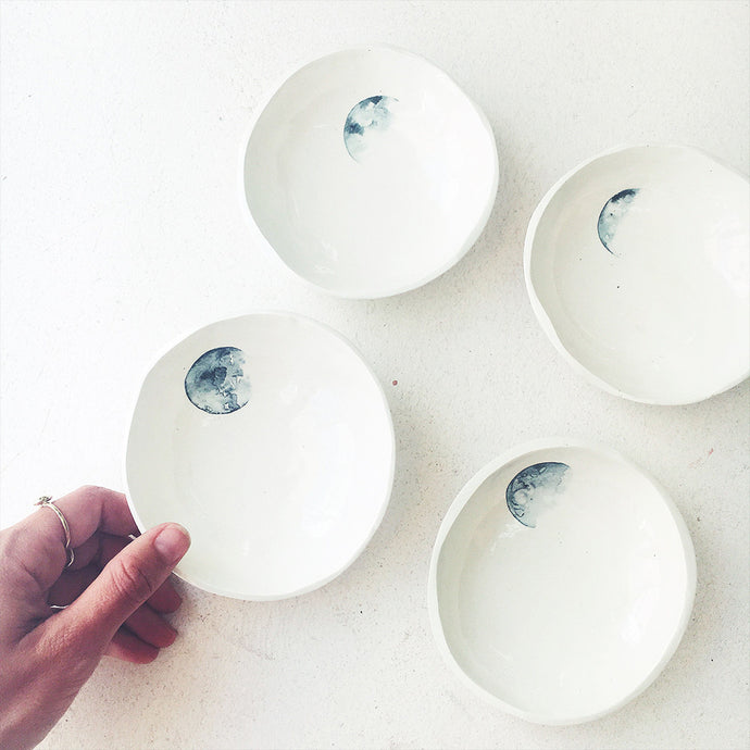 A set of four lunar trinket bowls