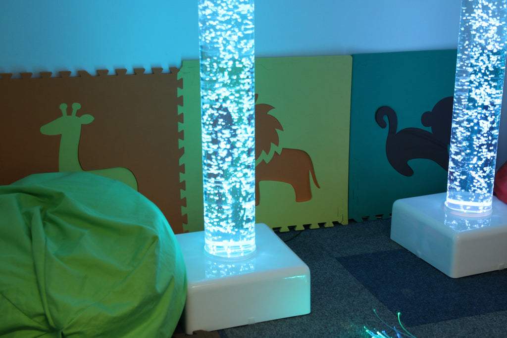 Interactive Bubble Tube with dice control