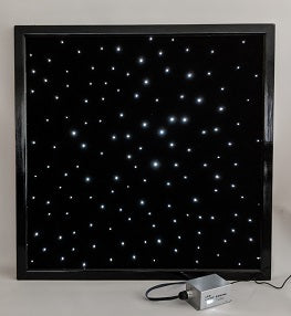 Wall mounted fibre optic carpet