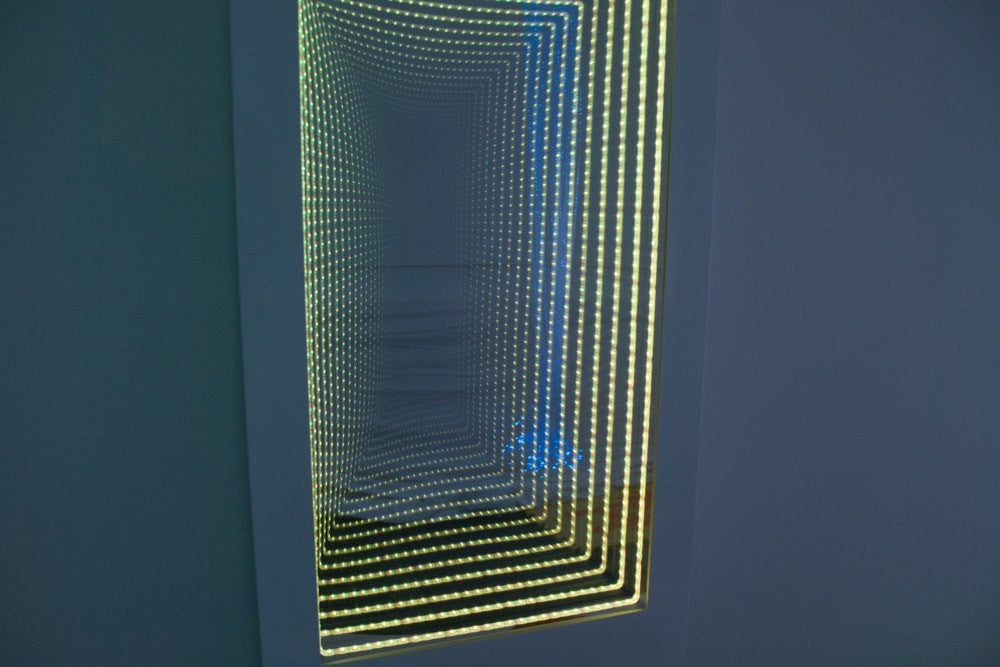 Interactive Infinity wall panel with built in buttons