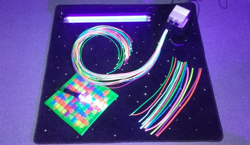 7 piece UV fibre optic sensory kit