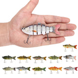 6 segment 3D swim lure with Treble hooks - Great for Bass