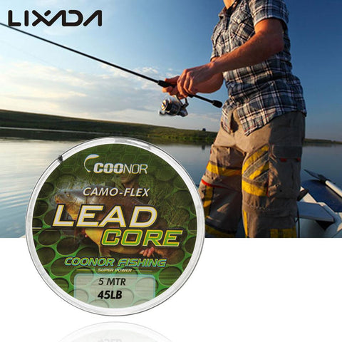 45lb 5m Leadcore Braided Camouflage Carp Fishing Line
