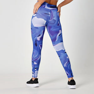 BLUE AURORA JUST STRONG LEGGINGS