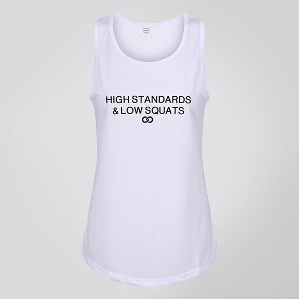 HIGH STANDARDS & LOW SQUATS ARTIC WHITE TANK