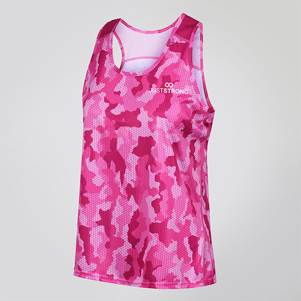 HOT PINK CAMO JUST STRONG TANK
