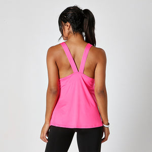 HOT PINK JUST STRONG RACERBACK TANK