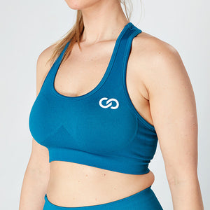 Azure Blue Seamless Sculpt Bra
