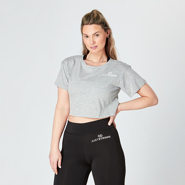 Heather Grey Logo Crop Top