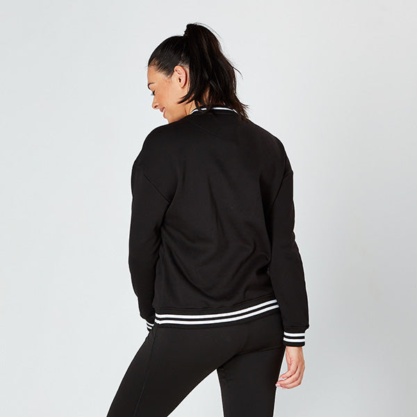 Black & White College Crew Sweatshirt