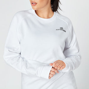 White Raglan Crew Neck Sweatshirt