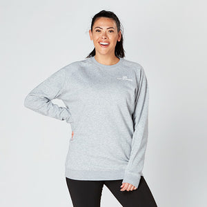 Heather Grey Raglan Crew Neck Sweatshirt