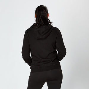 Jet Black Heavyweight Zip Up Hoodie