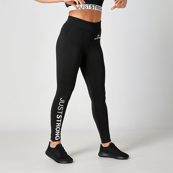 Jet Black Just Strong Leggings