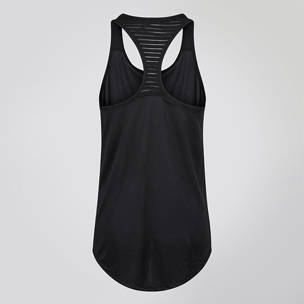 MESH TOP BLACK RACERBACK JUST STRONG TANK