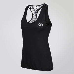 ABSTRACT REVERSIBLE RACERBACK EMBLEM VEST