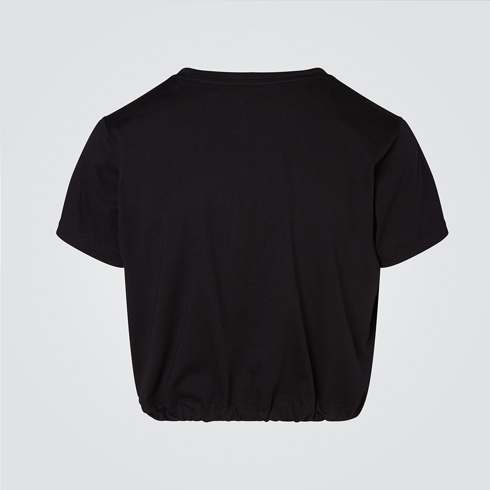 Black Cropped Team Graphic Tee