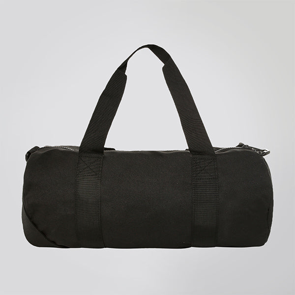 BLACK JUST STRONG BARREL BAG