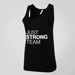 BLACK JUST STRONG TEAM TANK - EXCLUSIVE FOR AMBASSADORS