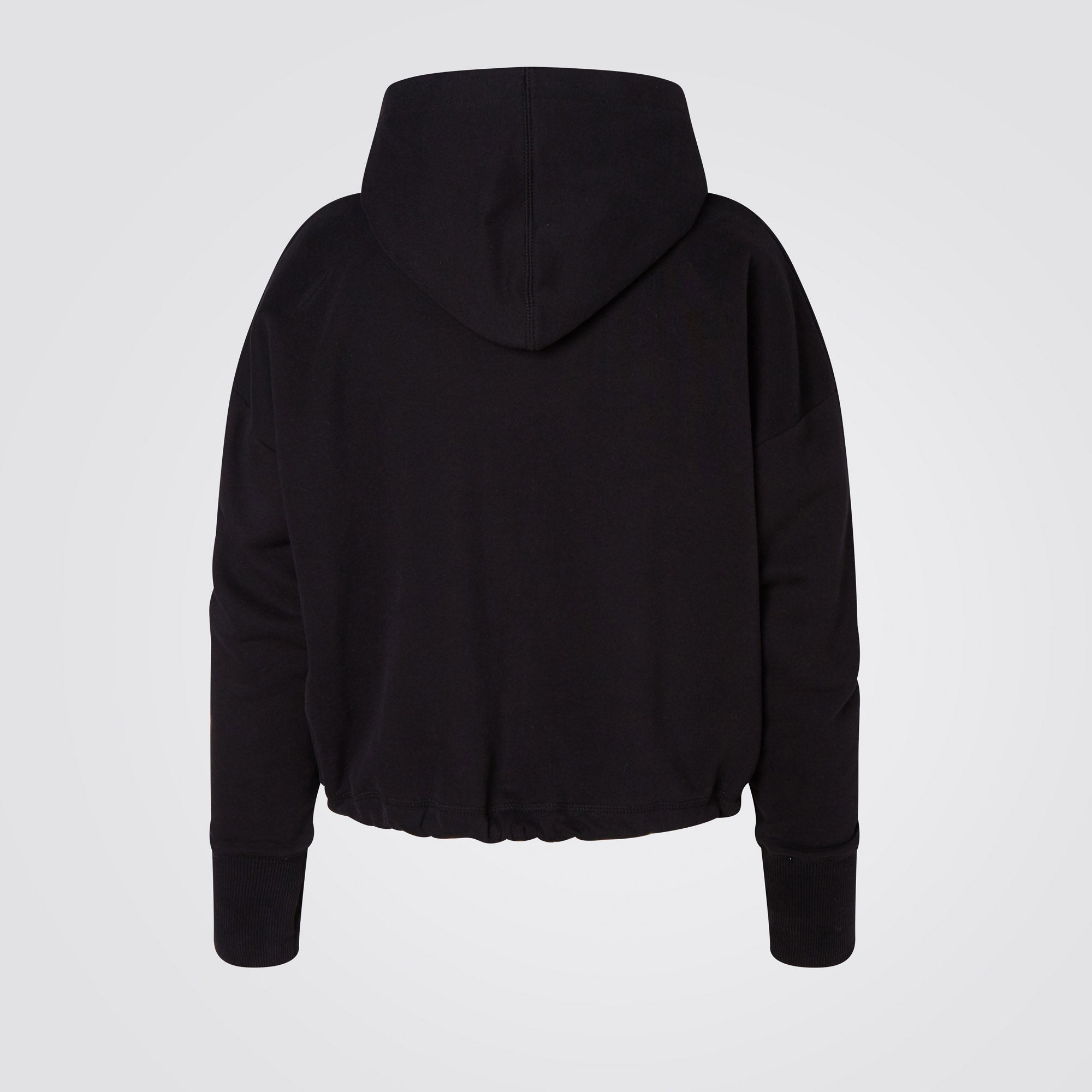 Black Relax Cropped Hoodie
