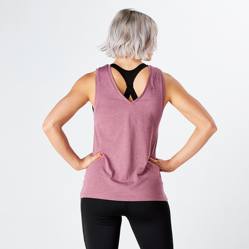 Damson Marl Athletic Lift Your Game Tank