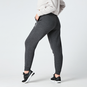 Dark Grey Heather Minimal Print Joggers