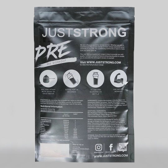 Pink Lemonade Pre-Workout by Just Strong