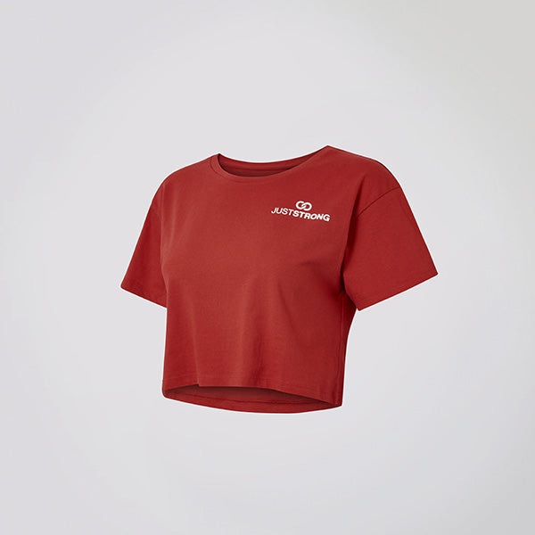 Fire Red Logo Crop Top