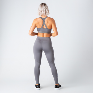 Grey Motion Emblem Sports Bra