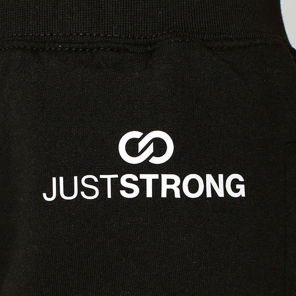 Jet Black Just Strong Kids Joggers