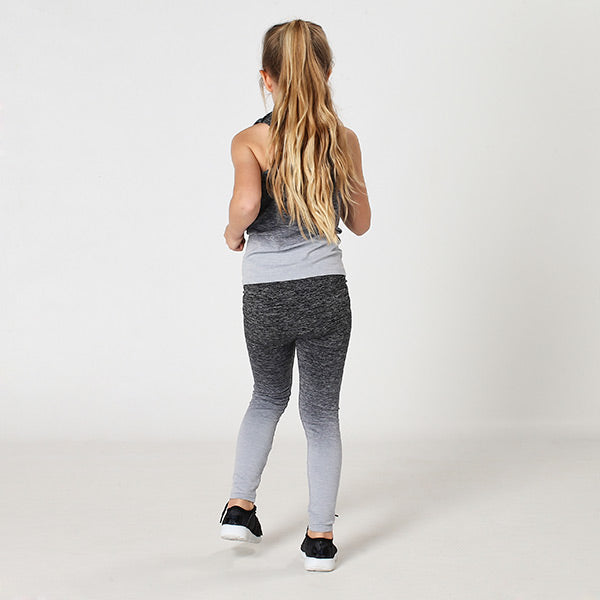 Kids Seamless Grey Ombre Leggings