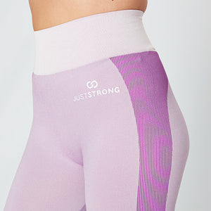Light Pink / Purple Seamless Panelled Leggings