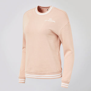 Lightrose / White College Crew Sweatshirt