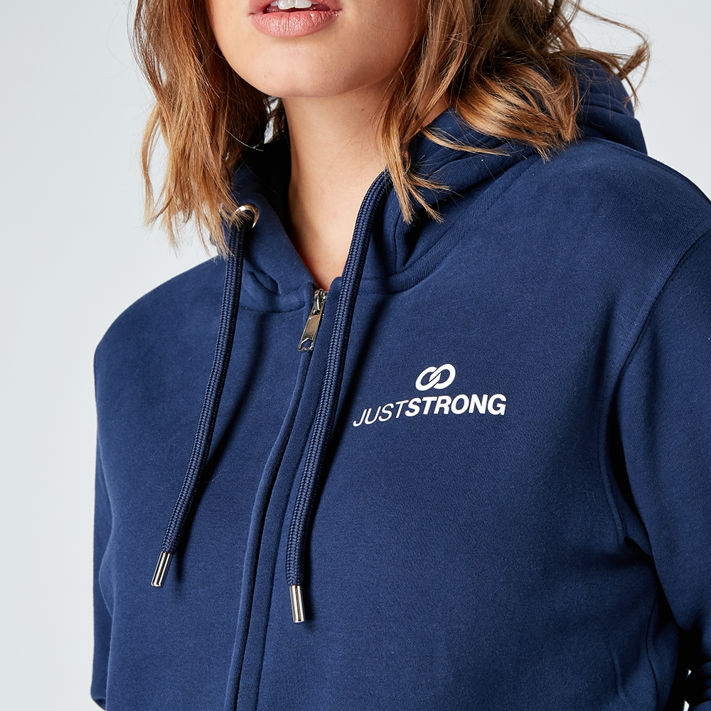 Navy Organic Zip Up Jacket