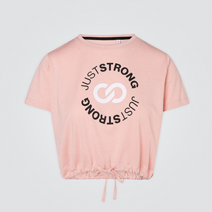 Pearl Pink Cropped Stamp Graphic Tee