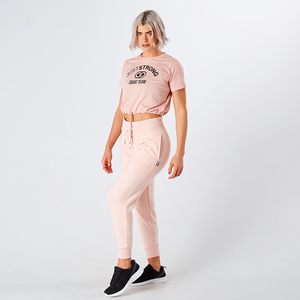 Pearl Pink Cropped Team Graphic Tee