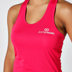 PINK STRAPPED RACERBACK TANK