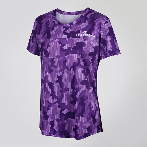 PURPLE CAMO JUST STRONG TEE