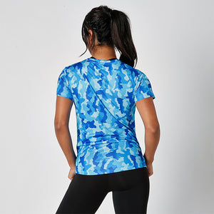 SAPPHIRE CAMO JUST STRONG TEE