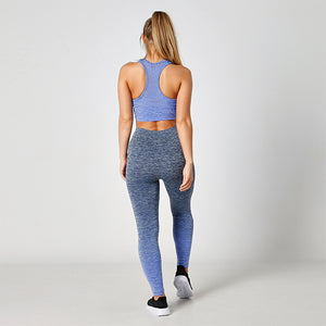 SEAMLESS MESH BLUE SPORTS BRA