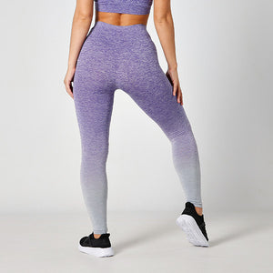 SEAMLESS PURPLE OMBRE LEGGINGS