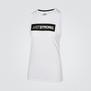 White Athletic Box Tank
