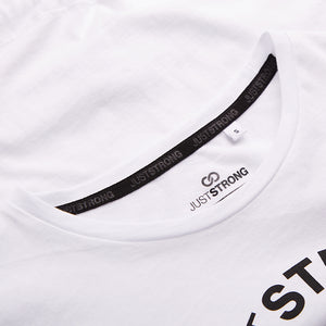 White Cropped Team Graphic Tee