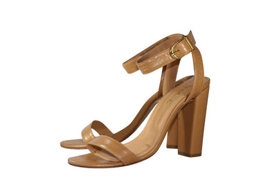 Nude sandals dark fair skin, high heel, nappa leather, padded insole, skin tone shoes