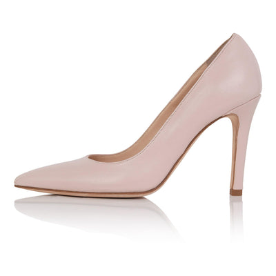 Nude pumps fair skin, nude high heel stiletto, nappa leather, padded insole, skin tone shoes