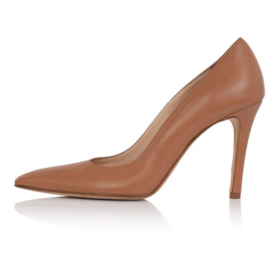 Nude pumps medium skin, nude high heel stiletto, nappa leather, padded insole, skin tone shoes