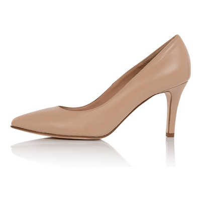 Nude pumps medium skin, medium heel stiletto, nappa leather, padded insole, skin tone shoes