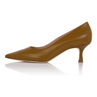 Nude pumps dark skin, kitten heel stiletto, nappa leather, padded insole, skin tone shoes